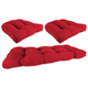 Home Accents Wicker Tufted Cushion Set (Set of 3)