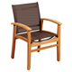 Guam Teak Dining Armchair with Brown Textile Sling