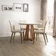 Manhattan Comfort Duffy and Charles 5-Piece Dining Set in Off White and Dark Beige