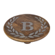 Heritage Collection Mango Wood Round Trivet With Letter