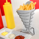 Gibson Elite Gracious Dining Porcelain 8 Inch French Fry Bucket in White