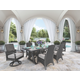 Marsh Creek Dining Table with Umbrella Option