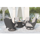 Marsh Creek Swivel Lounge with Cushion (Set of 2)