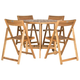 Halsted Table and 4 Chairs (Set of 5)