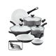 Farberware Aluminum Ceramic 12-Piece Cookware Set, Gray