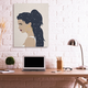 Stupell Industries  Stars in Hair Glam Female Portrait Constellations, 36 x 48, Canvas Wall Art