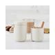 Bonjour Wayfarer Ceramic Collection Sugar & Creamer Set, Matte White