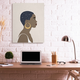 Stupell Industries  Night Sky Constellation Hairstyle Glam Female Portrait, 36 x 48, Canvas Wall Art