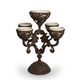 The Gerson Company Cream Ceramic and Acanthus Leaf Metal Epergne Centerpiece
