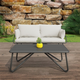 Novogratz Poolside Gossip Collection Teddi Outdoor Loveseat and Coffee Table Set