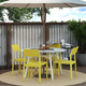 Novogratz Poolside Collection Chandler Stacking Dining Chairs (Set of 4)