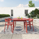 Novogratz Poolside Collection Felix Stacking Dining Chairs (Set of 4)