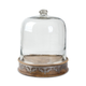 The Gerson Company Medium Wood and Inlay Mital Heritage Collection Pastry Keeper and Dome