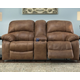 Zavier Glider Reclining Loveseat with Console