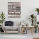 Stupell Family Rules Text Fun Wood Grain Rustic Tan Teal 36 x 48 Canvas Wall Art