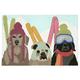 Home Accents 2' x 3' Snow Pups Indoor/Outdoor Doormat
