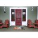 Home Accents Deckside 2' x 3' Pink Ladies Indoor/Outdoor Doormat