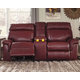 Duvic Power Reclining Loveseat with Console