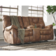 Darshmore Glider Reclining Loveseat with Console
