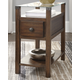Diamenton Chairside End Table with USB Ports & Outlets