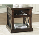 Roddinton End Table with USB Ports & Outlets