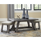 Harpoli Coffee Table with Nuvella Nesting Stools