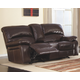 Damacio Glider Reclining Loveseat with Console