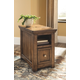 Flynnter Chairside End Table with USB Ports & Outlets