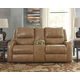 Roogan Power Reclining Loveseat with Console