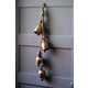 Holiday Four Rustic Iron Hanging Bells with Rope