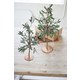 Holiday Set of Two Artificial Mistletoe Trees