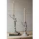 Holiday Set of 2 Deer Taper Candle Holder
