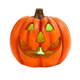 Fall 14-Inch Color Changing Smoking Halloween Pumpkin