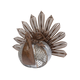 Fall Galvanized Rusted Metal Turkey with Textured Pumpkin Body
