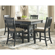 Tyler Creek Counter Height Dining Table and 4 Barstools