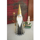Holiday Santa Claus with Gold-finished Hat Holding Tree