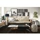 Bergen Wood Arm Futon with 6
