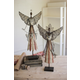 Holiday Set of Two Galvanized Angels