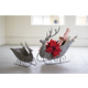 Holiday Set of 2 Deer Sleighs