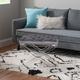 Linon X Base Acrylic Leg Vanity Bench