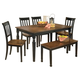 Owingsville Dining Table and 4 Chairs and Bench