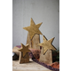 Holiday Set of Three Wooden Star on Base