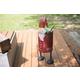 Holiday Recycled Iron Santa Cooler