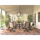 Burnella Large Round Dining Table with Umbrella Option