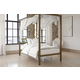 Modern Metal Canopy Twin Bed