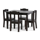 Kids Brooklyn Wood Table and Four Chairs Set