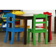 Kids Discover Wood Table and Four Chairs Set