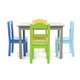 Kids Forest Wood Table and Four Chairs Set