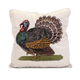 Fall Harvest Embroidered Turkey Pillow