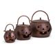 Halloween Lidded Pumpkins Brown (Set of 3)